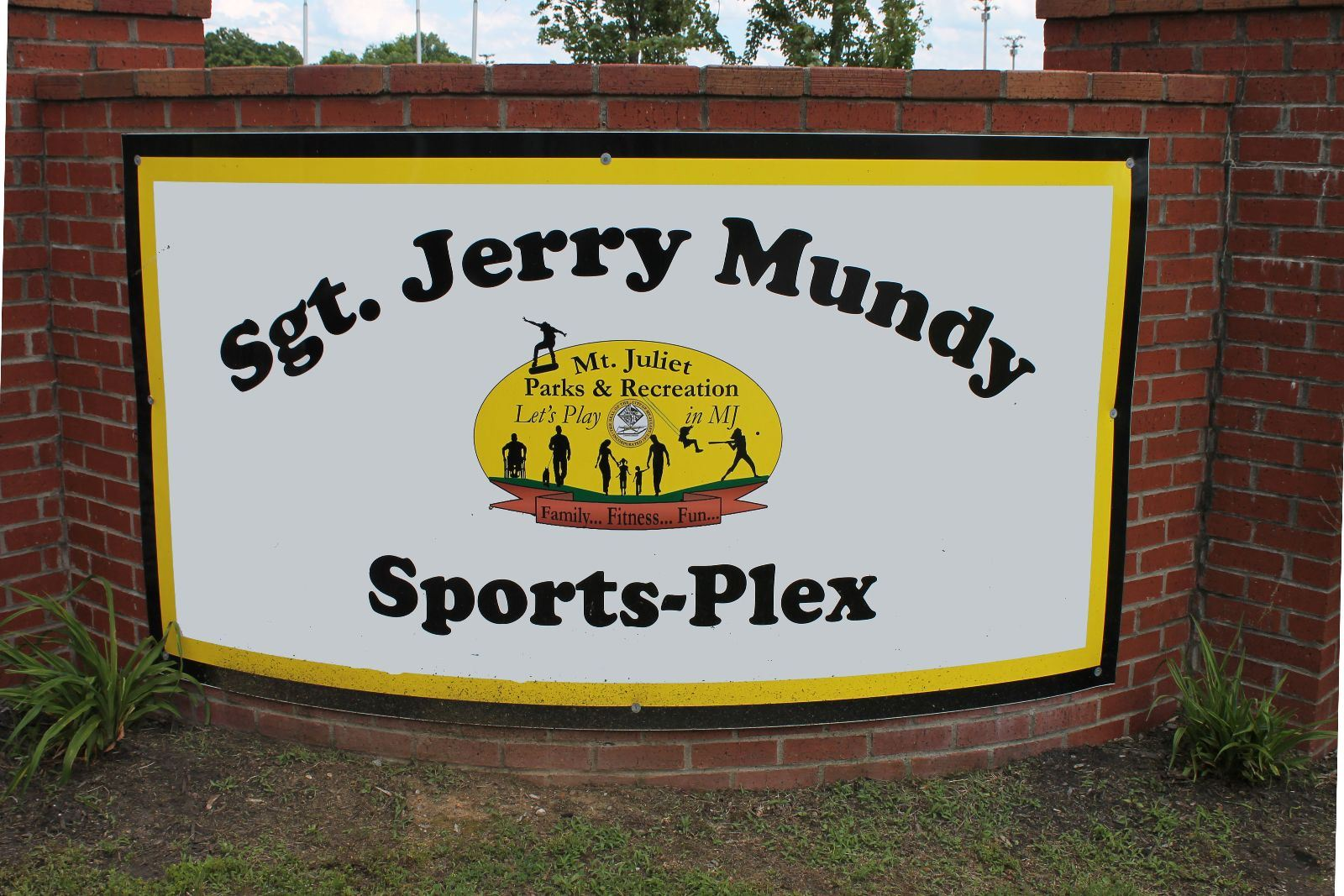 Sgt. Jerry Mundy Sports-Plex Sign
